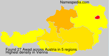 Surname Awad in Austria