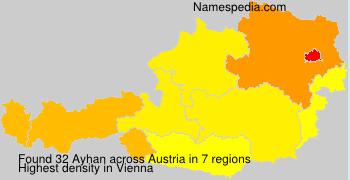 Surname Ayhan in Austria