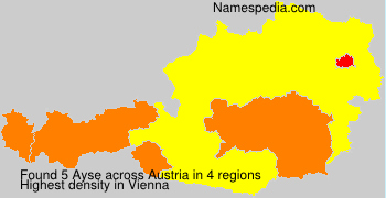 Surname Ayse in Austria