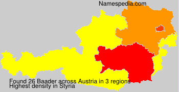 Surname Baader in Austria
