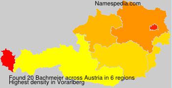 Surname Bachmeier in Austria