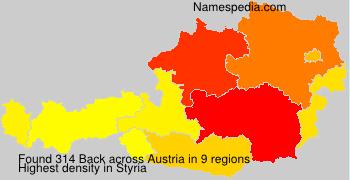 Surname Back in Austria