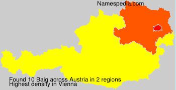 Familiennamen Baig - Austria