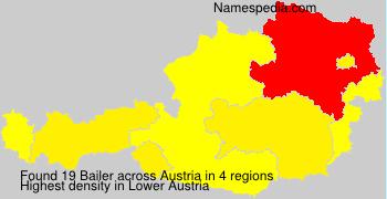 Surname Bailer in Austria