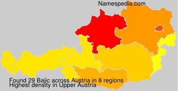 Surname Bajic in Austria