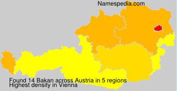 Surname Bakan in Austria