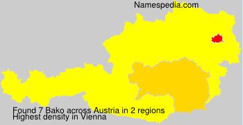 Surname Bako in Austria
