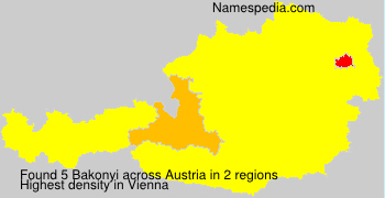 Surname Bakonyi in Austria