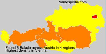 Surname Bakula in Austria