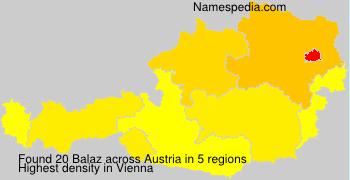 Surname Balaz in Austria