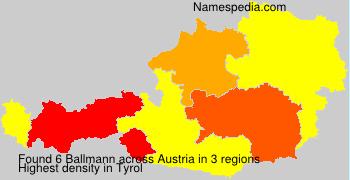 Surname Ballmann in Austria