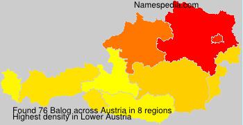 Surname Balog in Austria