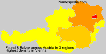 Surname Balzar in Austria