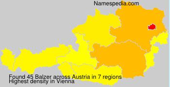 Surname Balzer in Austria