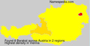Surname Barakat in Austria