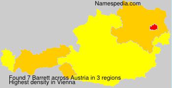 Familiennamen Barrett - Austria