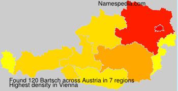 Familiennamen Bartsch - Austria