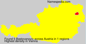 Familiennamen Bastovanovic - Austria