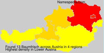 Surname Baumfrisch in Austria