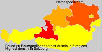 Familiennamen Baumgartlinger - Austria