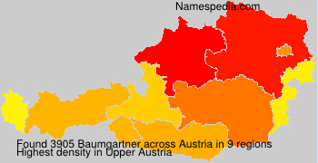 Surname Baumgartner in Austria