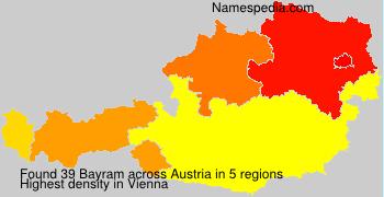 Familiennamen Bayram - Austria