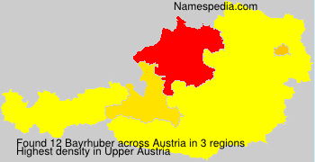 Surname Bayrhuber in Austria