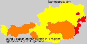 Surname Bazso in Austria