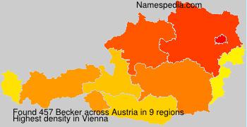Familiennamen Becker - Austria