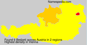 Surname Bedzeti in Austria