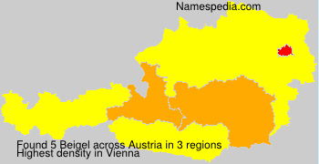 Surname Beigel in Austria