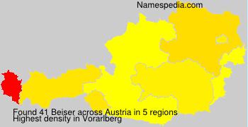Surname Beiser in Austria