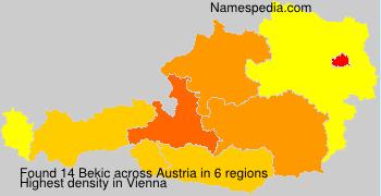 Familiennamen Bekic - Austria