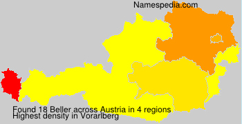 Surname Beller in Austria