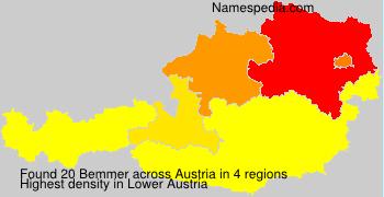 Surname Bemmer in Austria