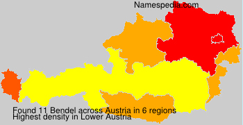 Surname Bendel in Austria