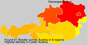 Surname Bender in Austria