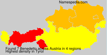 Surname Benedetto in Austria