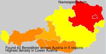 Familiennamen Benedikter - Austria