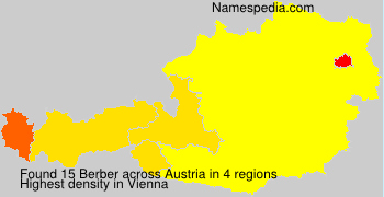 Familiennamen Berber - Austria