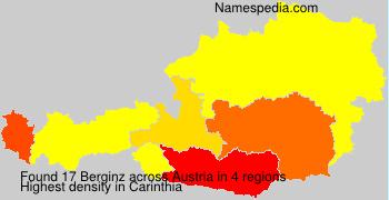 Familiennamen Berginz - Austria