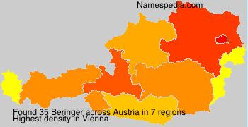 Surname Beringer in Austria