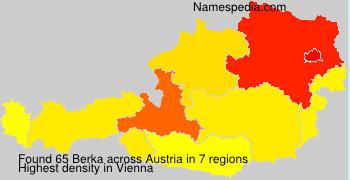 Surname Berka in Austria