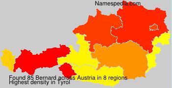 Surname Bernard in Austria