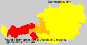 Familiennamen Bernarello - Austria