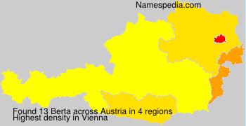 Surname Berta in Austria