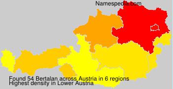 Surname Bertalan in Austria
