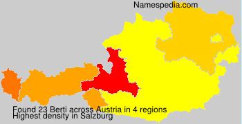 Familiennamen Berti - Austria