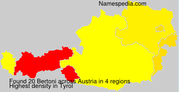 Surname Bertoni in Austria