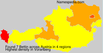 Familiennamen Bettin - Austria